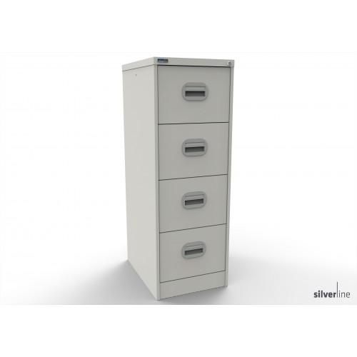 Kontrax Lockable 4 Drawer Filing Cabinet in White