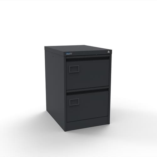 Executive Lockable 2 Drawer Filing Cabinet in Graphite