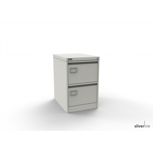 Executive Lockable 2 Drawer Filing Cabinet in White
