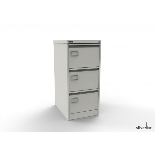 Executive Lockable 3 Drawer Filing Cabinet in White