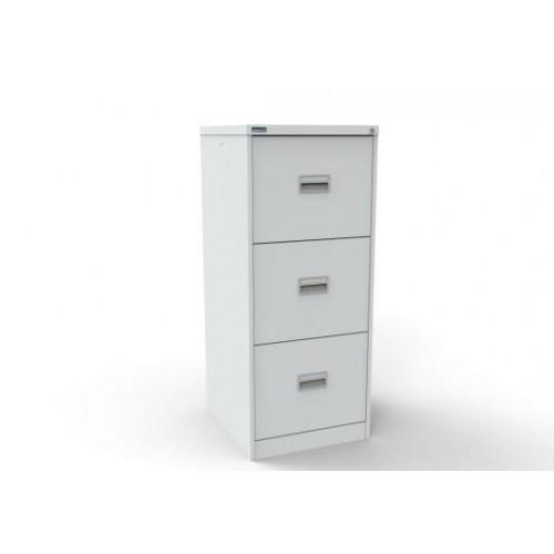Kontrax Lockable 3 Drawer Filing Cabinet in White