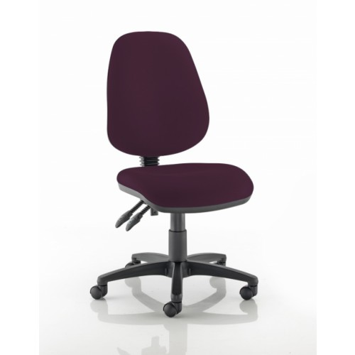 High Back Operators Chair in Tarot Purple Fabric with No Arms