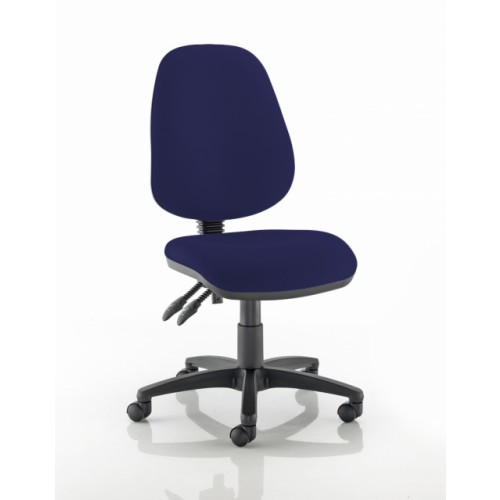 High Back Operators Chair in Navy Marina Vita Vinyl with No Arms