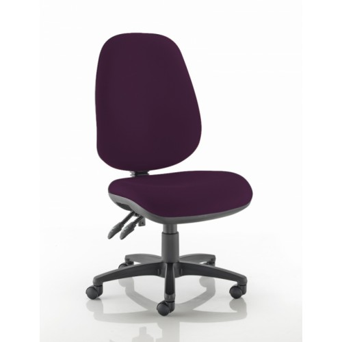 XL High Back Operators Chair in Tarot Purple Fabric with No Arms