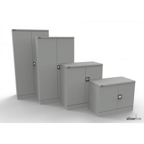 Kontrax Double Door Cupboard 1020mm High in Light Grey