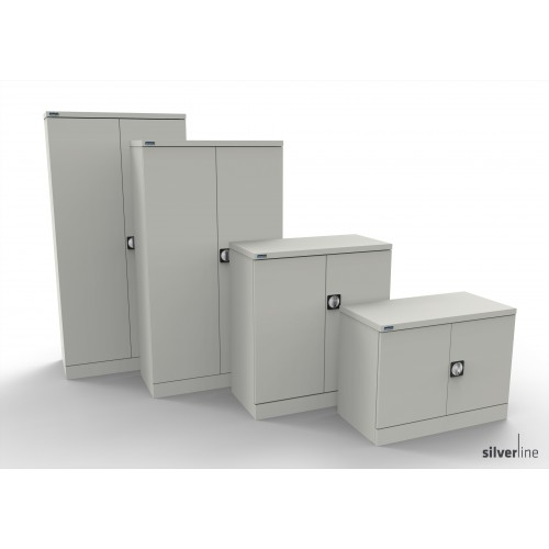 Kontrax Double Door Cupboard 1830mm High in White