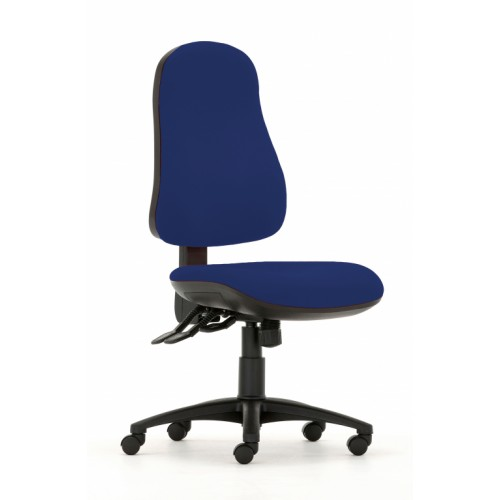Gresford 90 Ergonomic Chair in Hobbit Blue Fabric with No Arms