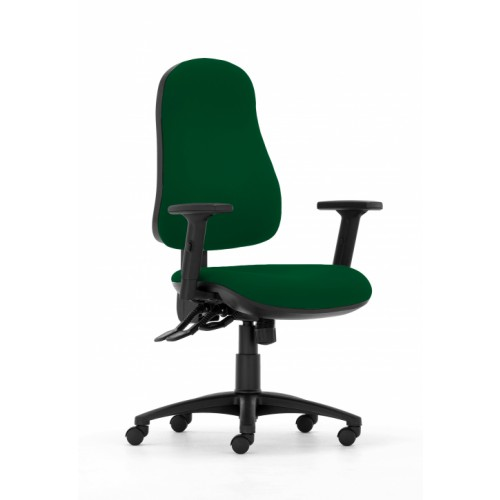 Gresford 90 Ergonomic Chair in Aztec Green Fabric with Height Adjustable Arms