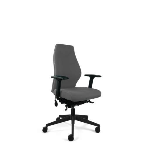 Posture 500 Ergonomic Chair with High Back, Height & Foldaway Arms in Granite Grey Fabric