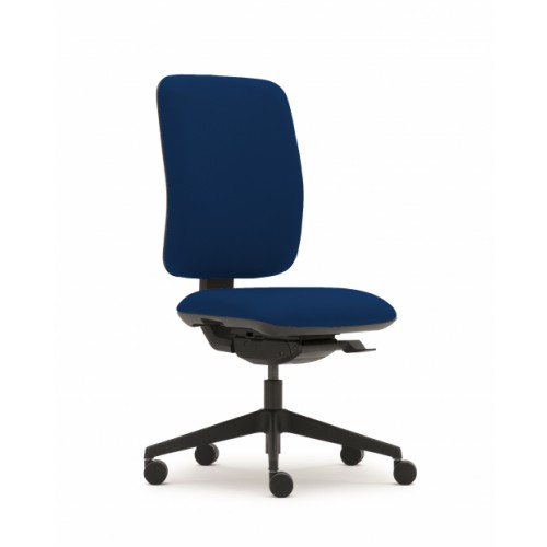 Pluto Plus High Back Ergonomic Chair in Navy Cobalt Fabric with No Arms