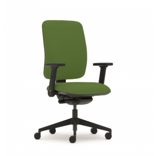 Pluto Plus High Back Ergonomic Chair in Avocado Green Vita Vinyl with Fixed Arms