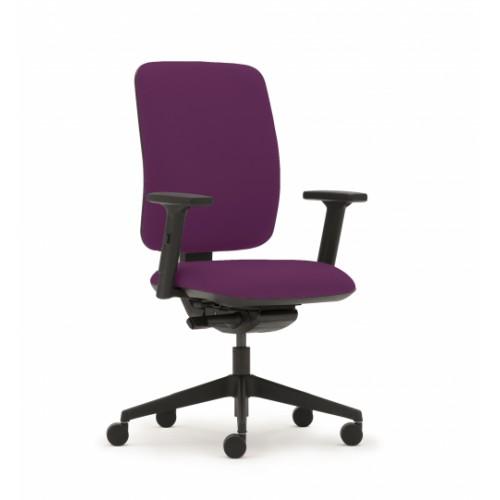 Pluto Plus High Back Ergonomic Chair in Amethyst Purple Vita Vinyl with Height Adjustable Arms