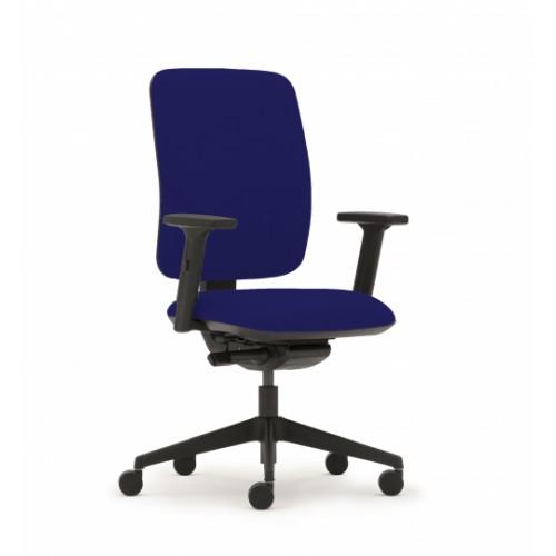 Pluto Plus High Back Ergonomic Chair in Navy Marina Vita Vinyl with Height Adjustable Arms