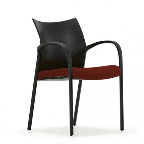 Trillipse Multipurpose Chair with arms in Cranberry Red Fabric
