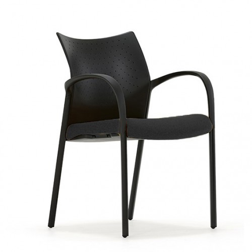 Trillipse Multipurpose Chair with arms in Black Fabric