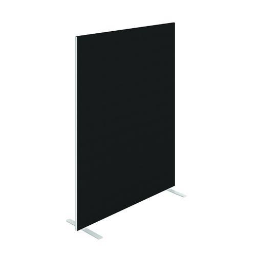 Floor Standing Screen W1600 x H1800 in Black Fabric