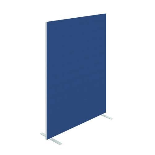 Floor Standing Screen W1600 x H1800 in Blue Adriatic Fabric