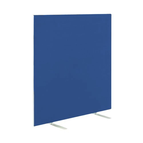 Floor Standing Screen W1800 x H1800 in Blue Adriatic Fabric