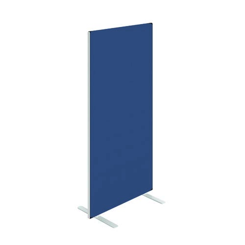 Floor Standing Screen W800 x H1500 in Blue Adriatic Fabric