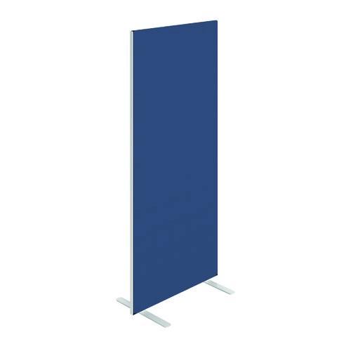 Floor Standing Screen W800 x H1800 in Blue Adriatic Fabric