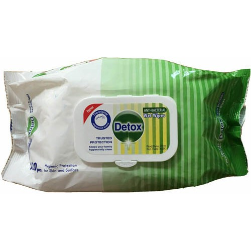 Detox Hand & Surface Anti-Bacterial Wipes Pack of 120
