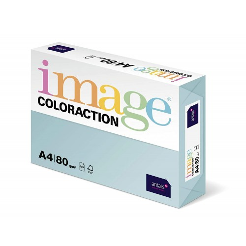 Coloraction Paper Pale Blue (Lagoon) A4 80gSm Pack 500 ref: 89601