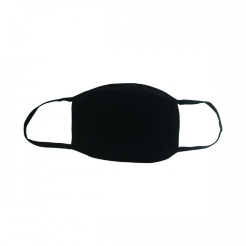 Reusable Cloth Masks 5x7in 4 Layer Cotton Black (Pack of 5)
