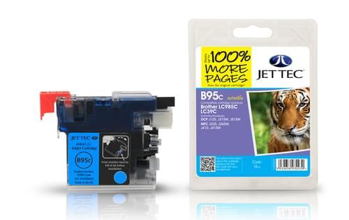 Jettec Compatibile Brother LC985 Cyan Inkjet Cartridge (B95C)