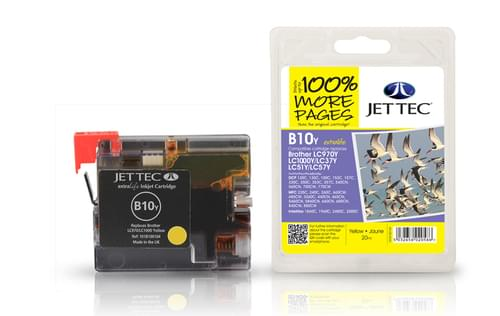 Jettec Compatibile Brother LC970Y/LC1000Y Yellow Inkjet Cartridge (B10Y)