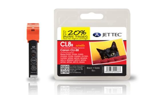 Jettec Compatibile Canon CLI 8 Black Inkjet Cartridge (CL8B)