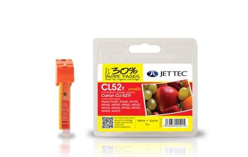 Jettec Compatibile Canon CLI-521 Yellow Inkjet Cartridge (CL52Y)