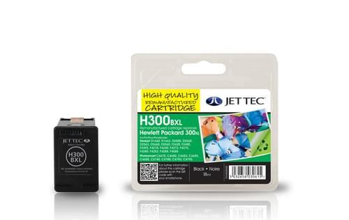 Jettec Remanufactured HP300XL Black Inkjet Cartridge (H300BXL)