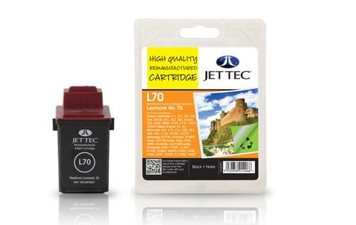 Jettec Remanufactured Lexmark No.70 (12A1970) Black Inkjet Cartridge (L70)