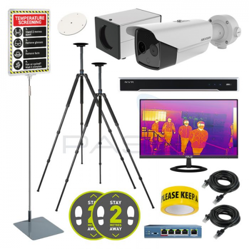 Hikvision DS-2TD2617B Low-Res Body Temp Thermal Cameras – Pro Solutions Kit