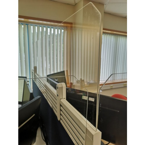 Perspex Screen - Social Distancing Office Extension Screens 1600mm x 400mm