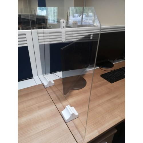 Perspex Screens Deskmount 1600mm x 600mm