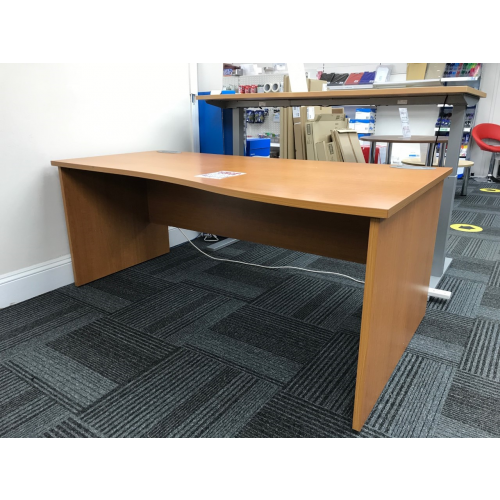 Wave Desk, Finished In Cherry. 1800mm Width x 1000-800mm Depth. 1 In Stock