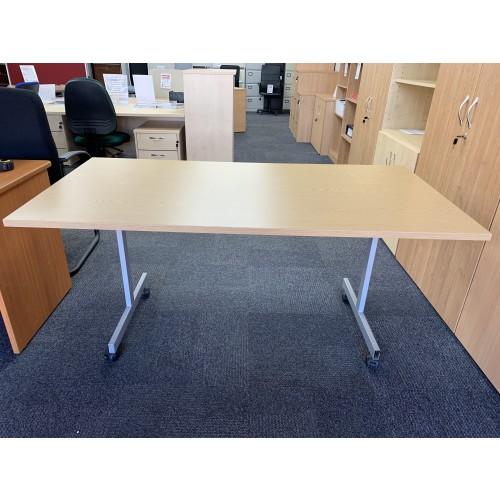 Tilt-Top Table, In Oak Finish. 1600mm Width x 800mm Depth. 1 In Stock