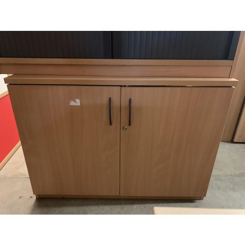 Double Door Cupboard, In Beech Finish. 1000mm Width x 720mm High x 560mm Depth. 1 In Stock
