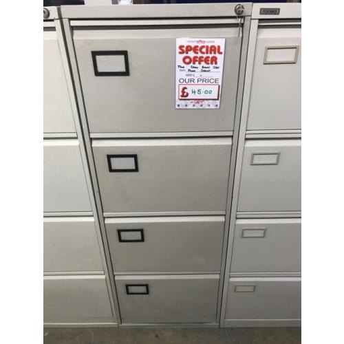 Filing Cabinet, 4 Drawer. In Grey. 3 In Stock