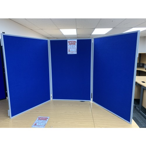 Set Of Three Display Boards, With A Silver Frame - 900mm x 600mm. 1 In Stock