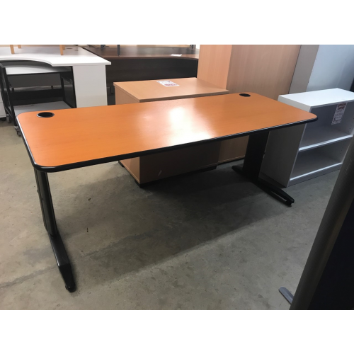 Rectangular Desk, Finished In Cherry. 1800mm Width x 700mm Depth. 6 In Stock