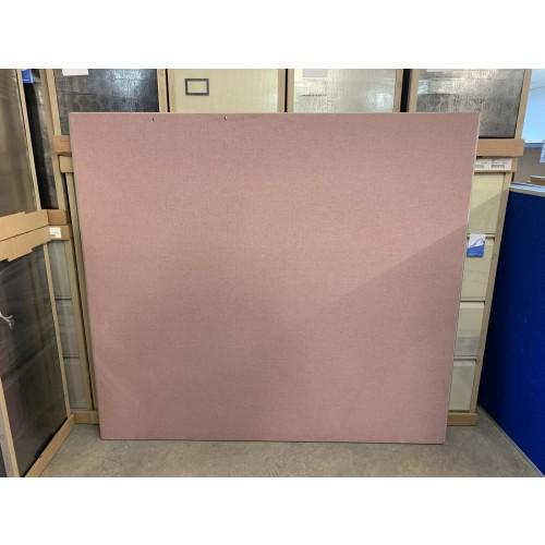 Freestanding Screen, Pink Fabric - 1500mm High x 1600mm Width - 1 In Stock