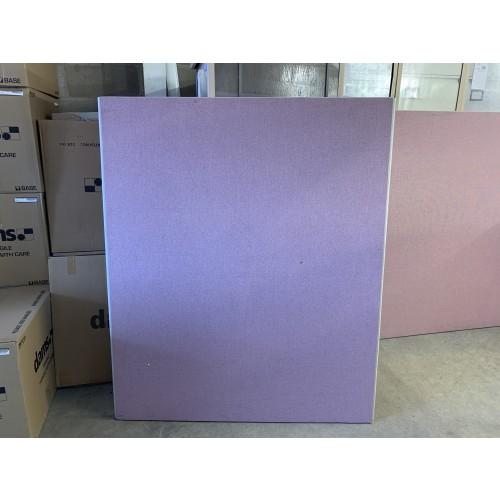 Freestanding Screen, Pink Fabric - 1500mm High x 1250mm Width - 3 In Stock