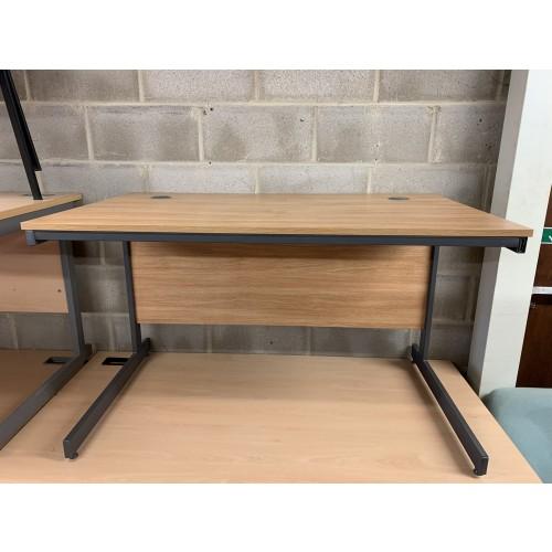 Straight Desk, In Limed Oak Finish - 1230mm Width x 750mm Depth. 1 In Stock