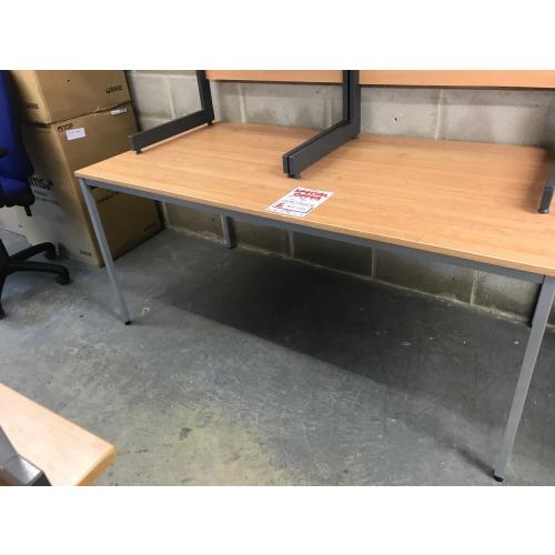 Meeting Table, Finished In Oak. 1600mm Width x 800mm Depth. 1 In Stock