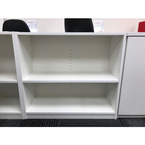 Bookcase, Finished In White. 800mm Width x 310mm Depth x 720mm High. 1 In Stock.