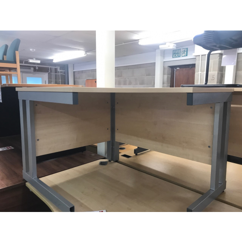 Crescent Desk, Finished In Maple. 1200mm Width x 1000mm Depth. 1 In Stock