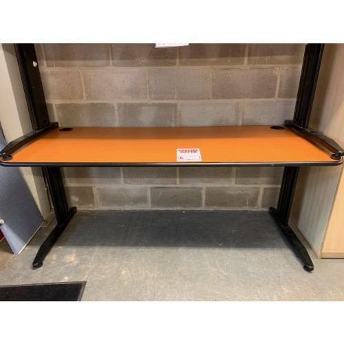 Rectangular Desk, Finished In Cherry. 1800mm Width x 700mm Depth. 3 In Stock