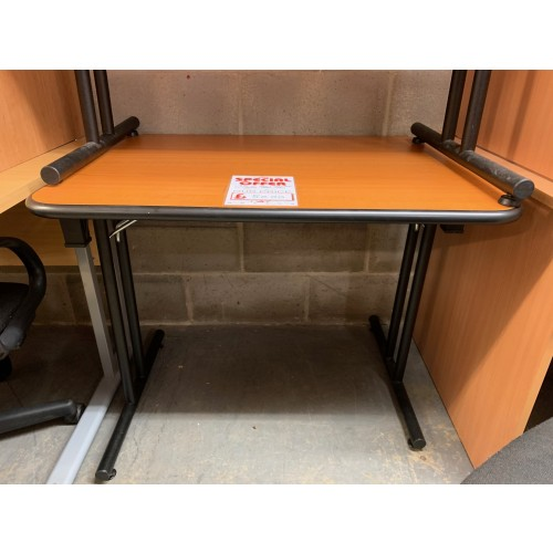 Folding Leg table, 900mm Width x 700mm Depth. Finished In Cherry. 3 In Stock